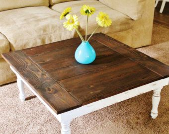 Reclaimed Wood Coffee Table Rustic Coffee Table 36x36 Farmhouse
