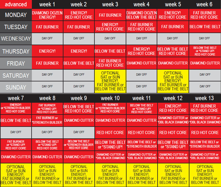 photograph about Ddp Yoga Schedule Printable referred to as DDP Yoga proposed plan Fitness Method Yoga exercise