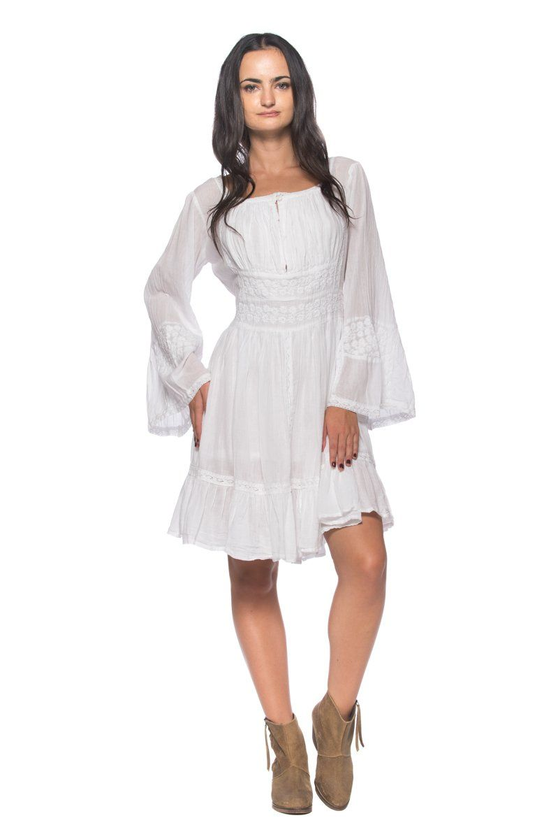 Robot Check Dresses Peasant Dress Womens Dresses [ 1200 x 799 Pixel ]