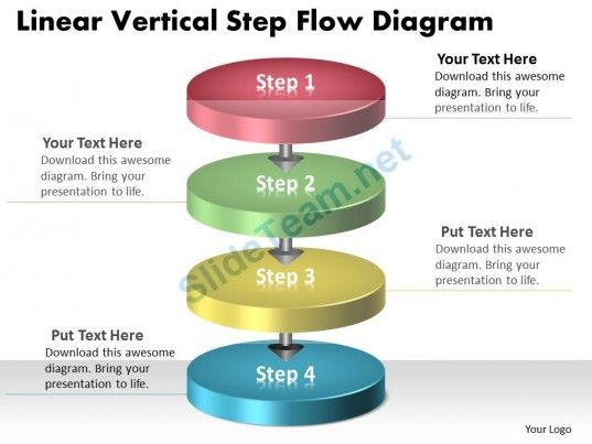 ppt linear vertical step flow swim lane diagram powerpoint, Modern powerpoint