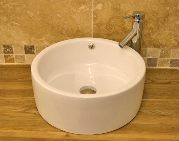 50% Off Ceramic Bathroom Bowl Basin And Tap Set