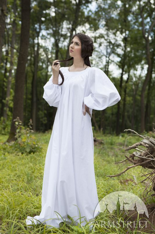 45713dab52c Средневековый Лен Лен сорочка