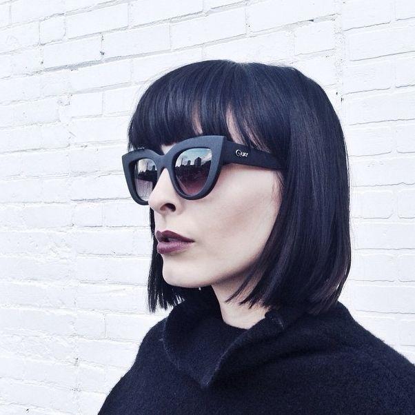 Jenn in the @quayaustralia Kitty Shades #cateye || Get the sunnies: http://www.nastygal.com/accessories/kitty-shades?utm_source=pinterest&utm_medium=smm&utm_term=ngdib&utm_content=clothing_optional&utm_campaign=pinterest_nastygal