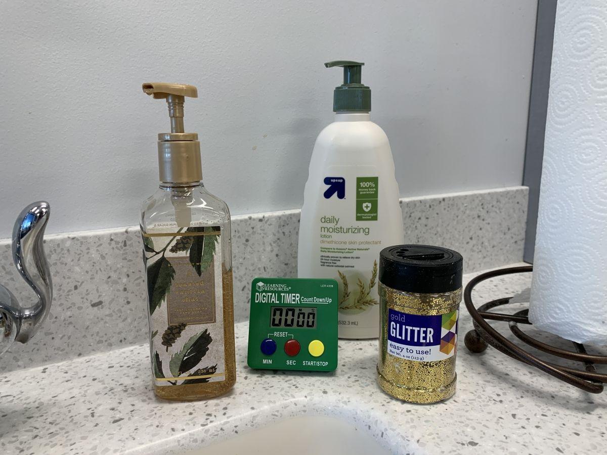 Proper Hand Washing Glitter Experiment For Kids