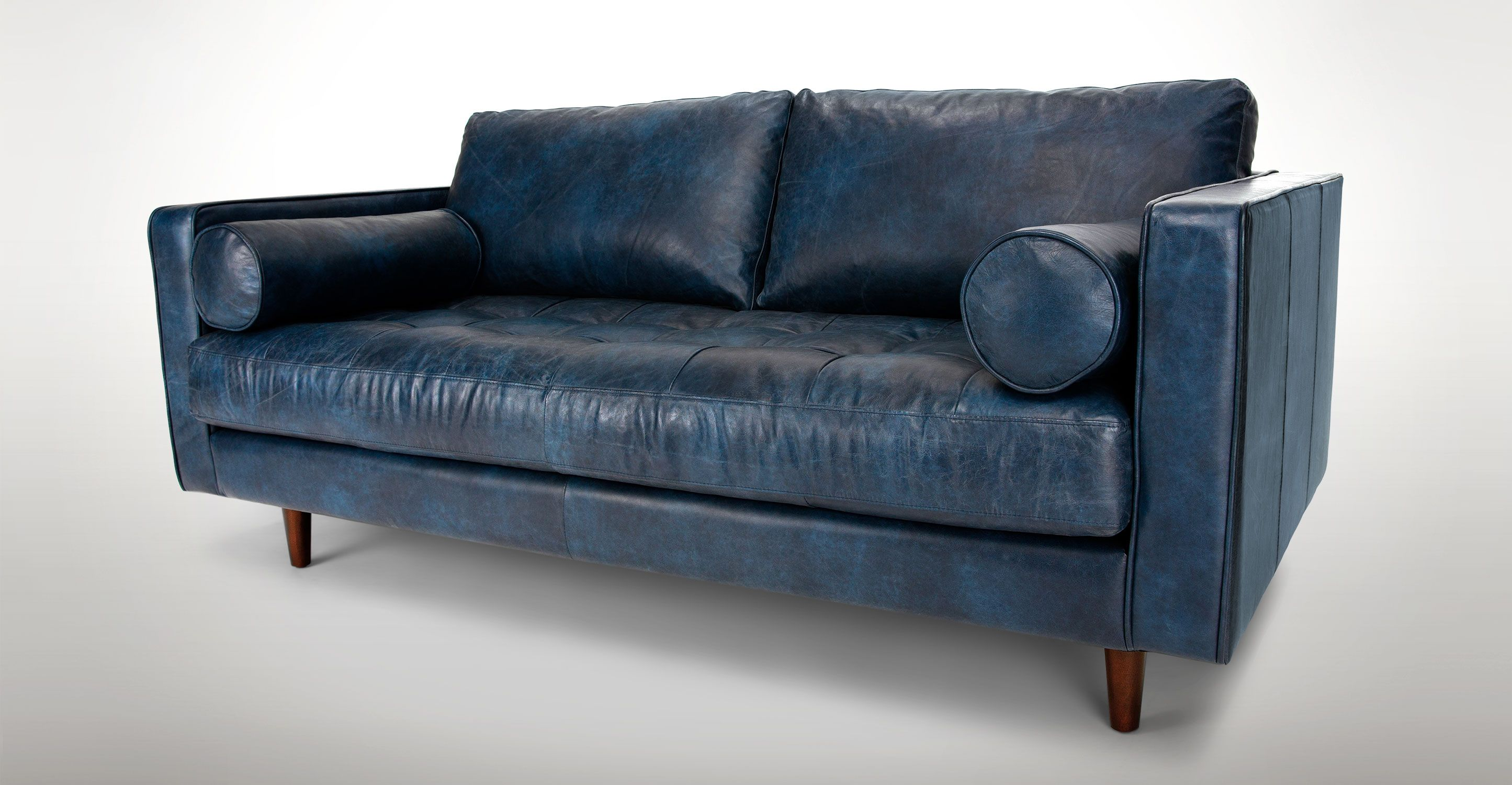 Sven Oxford Blue 72 Sofa Scandinavian Sofa Design Vintage Sofa Leather Sofa