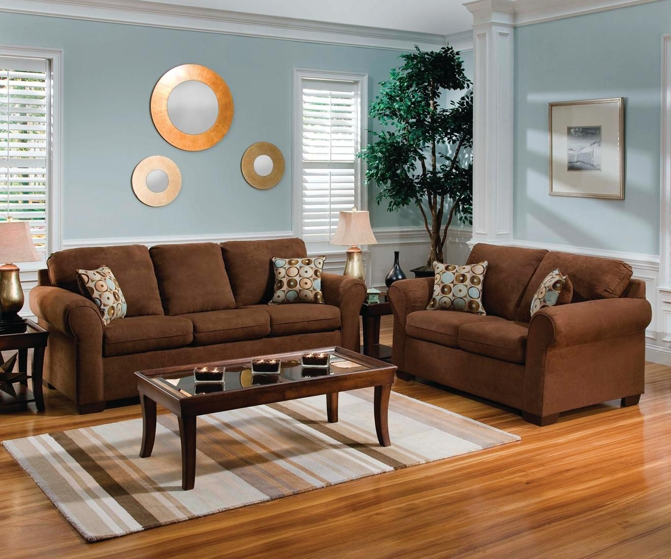 Flat Suede Chocolate Sofa Loveseat Freedom Furniture Electronics Brown Living Room Decor Brown Sofa Living Room Living Room Colors