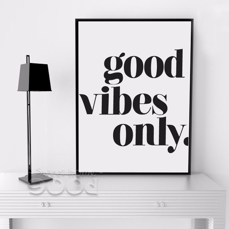 'Good Vibes Only' Extrovert Quote Canvas