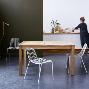 Table En Teck A Rallonge 140x90 Cloe En 2020 Table Teck Meuble
