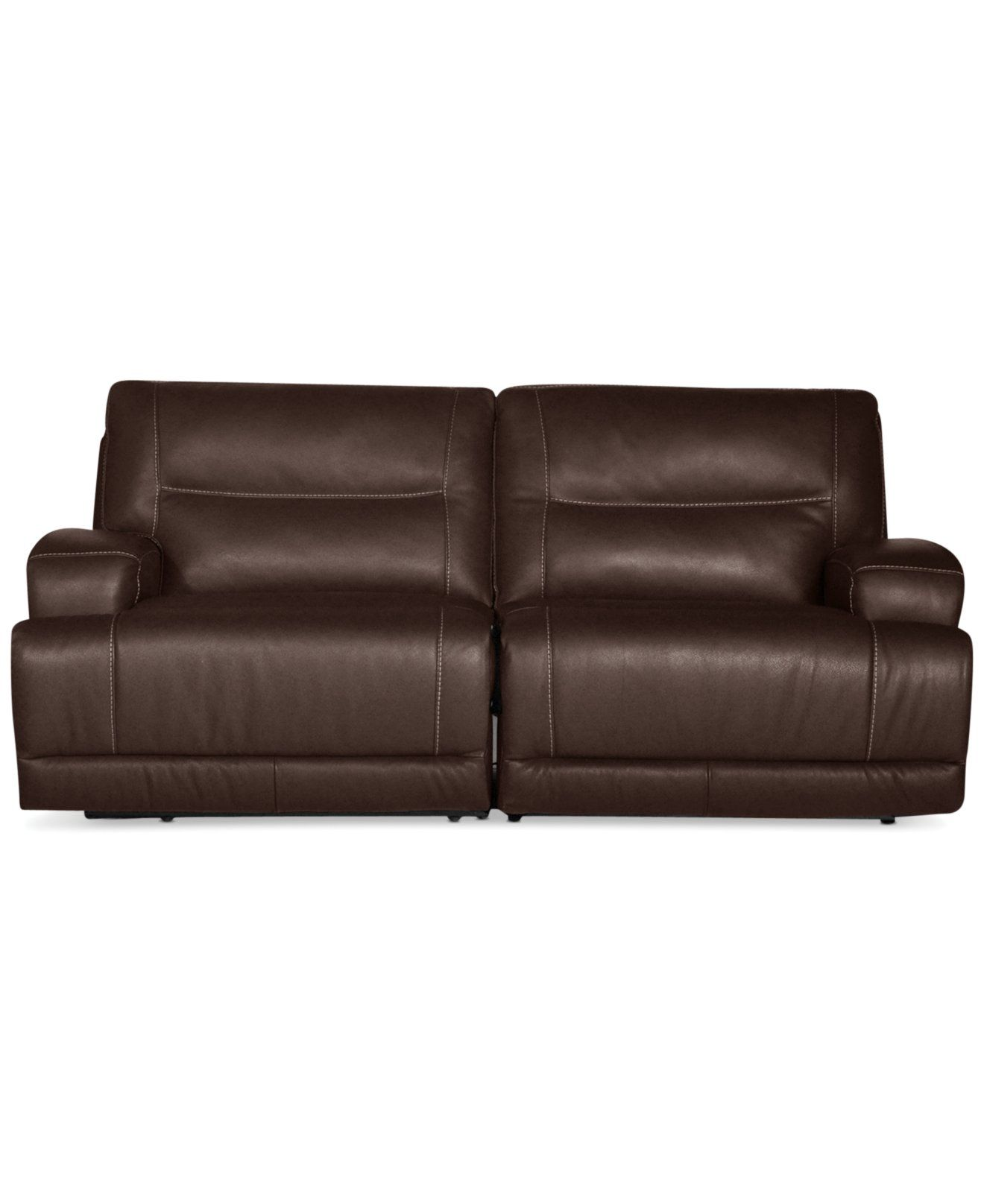 Caruso Leather 2 Piece Power Motion Sectional Sofa Furniture