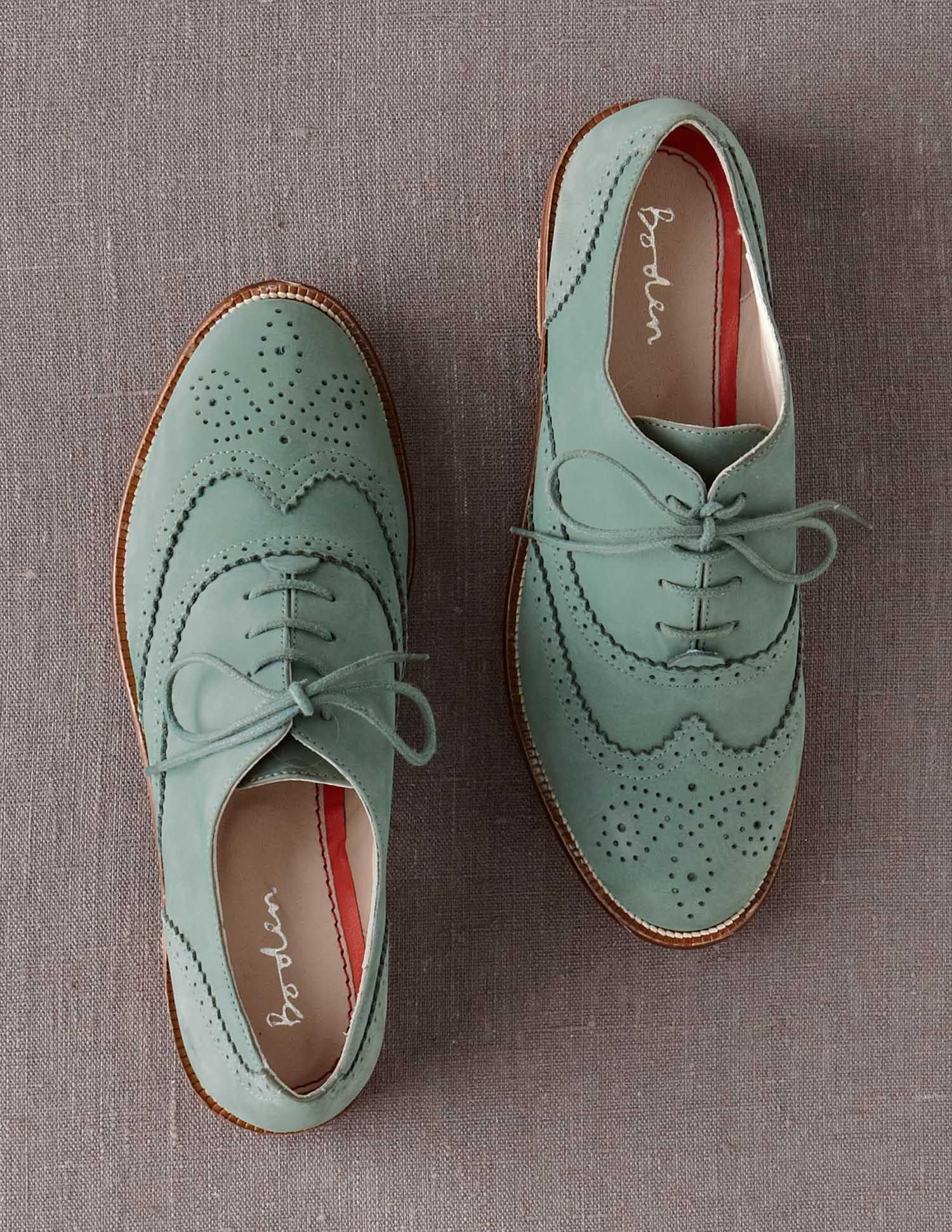Sea Green Suede Oxford Shoes Style Women Shoes Oxford Shoes
