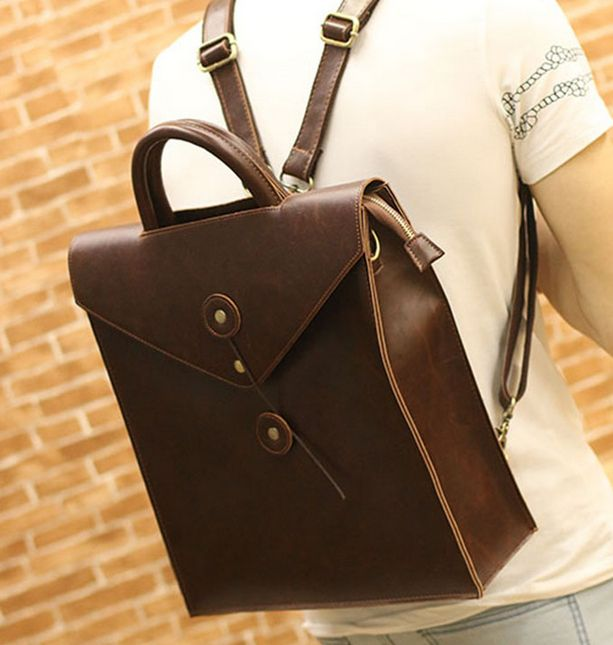 stacy bag high quality brand women men leather backpack male commercial briefcase business bag female travel bag vintage bag $25.00