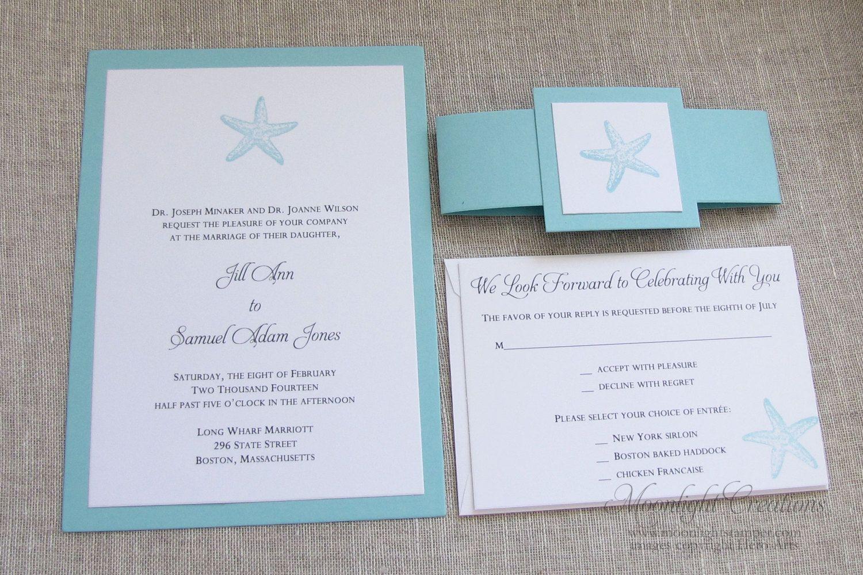 Turquoise Starfish Wedding Invitations Beach By Moonlightstamper 4 50 Wedding Invitations Australia Wedding Invitations Starfish Wedding Invitations