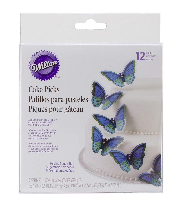 Butterfly Cake Pick 12/Pkg - Cool