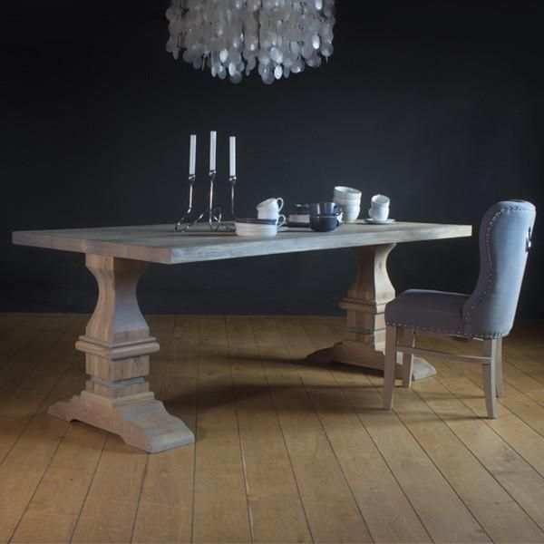 Hoxton Oak Farmhouse Dining Table Dining Table Reclaimed Wood