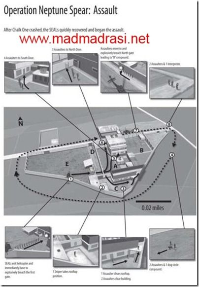 Operation Neptune Spear Assault.  Image courtesy 'No Easy Day: The Firsthand Account of the Mission That Killed Osama Bin Laden' by Matt Bissonnette.