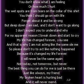hurt feelings poems - photo #31