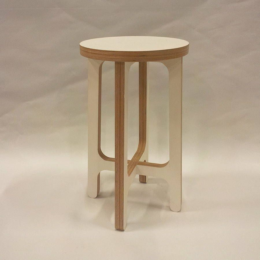 Birch Plywood Stool Side Table