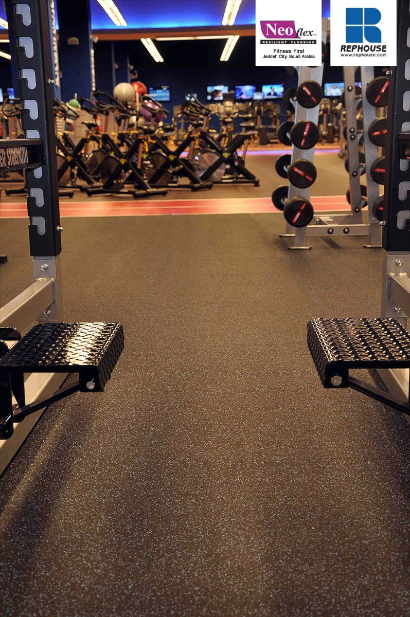 Neoflex 500 Series Rubber Fitness Flooring @ Fitness First