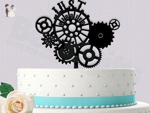 Just married steampunk style wedding cake topper cake and cupcake just married steampunk style wedding cake topper cake and cupcake toppers amazon partner link junglespirit Choice Image