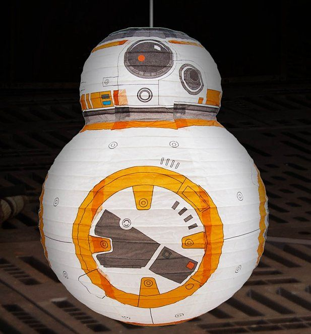 Bb 8 Lightshade Gorgeous Paper Perfect For A Stars Wars Bedroom