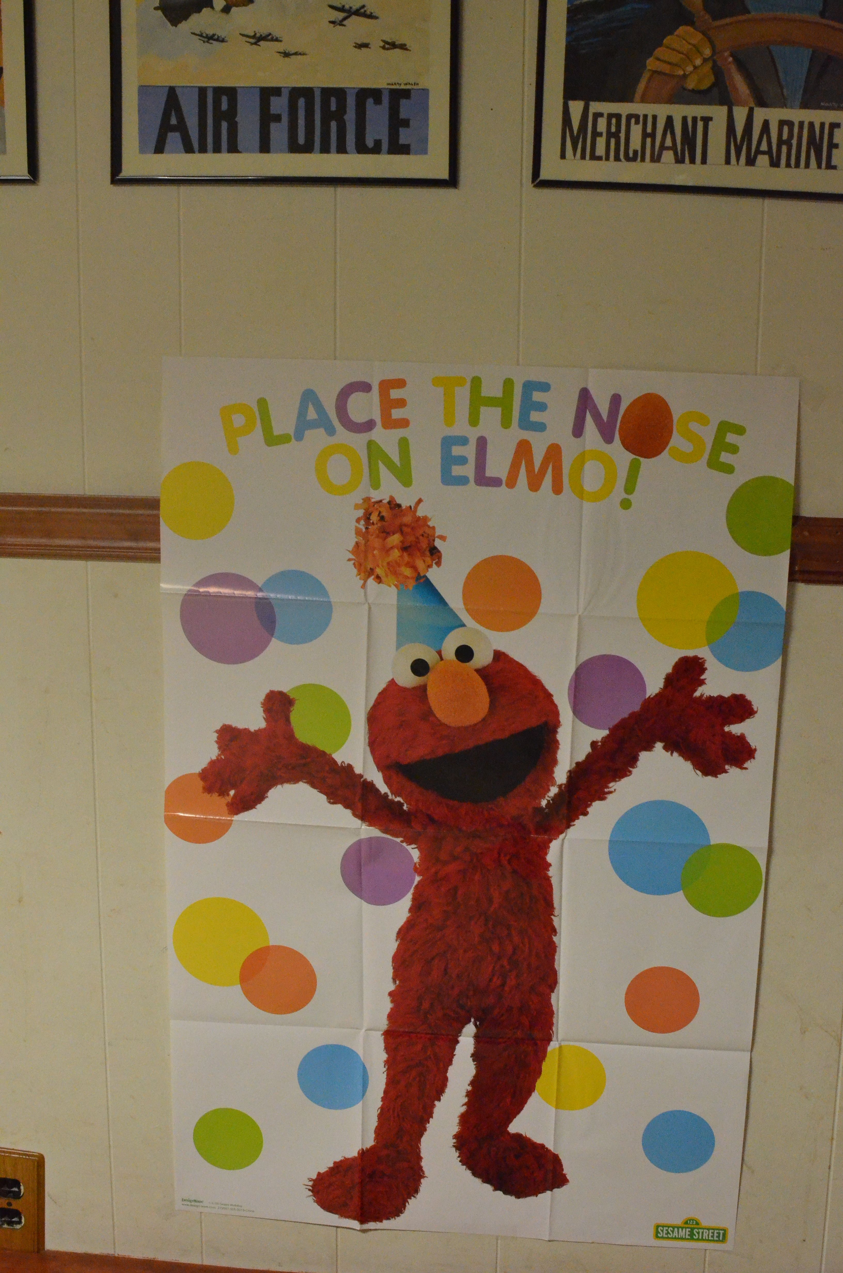 Pin The Nose On Elmo Game Purchased At Party City Note The Game Only Comes Wit Elmo Birthday Party Sesame Street Birthday Party Sesame Street Party Supplies