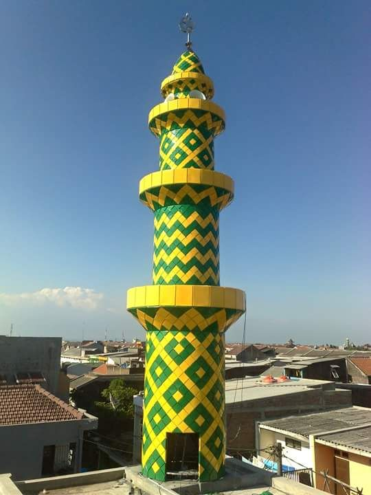 Foto Proses Pemasangan Erection Tower Menara Masjid Mushola Denah