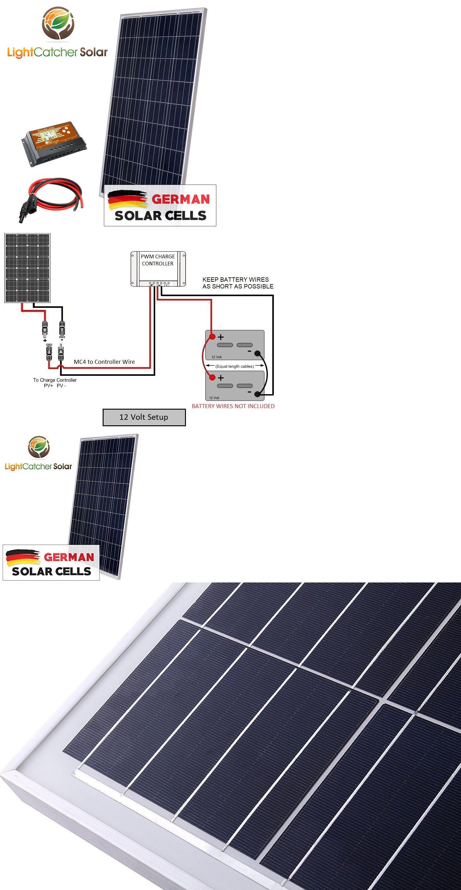 100 Watt Solar Panel Kit Rv Kit With Wires 100w For Rv Shed 12v Battery Charger Solar Panels 100 Watt Solar Panel Solar Panel Kits