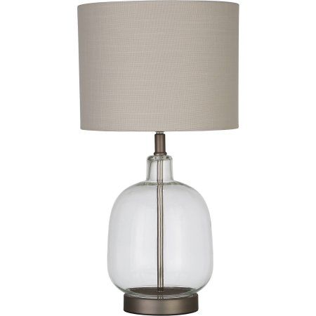 Better Homes And Gardens Clear Glass Lamp Artisan Glass Table Lamp, Easy  On/Off