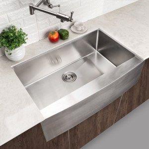 Lordear Commercial 33 Inch Stainless Steel Undermount Farmhouse Sink |  Kitchen Ideas | Pinterest | Stainless Steel Farmhouse Sink, Sinks And Stainless  Steel