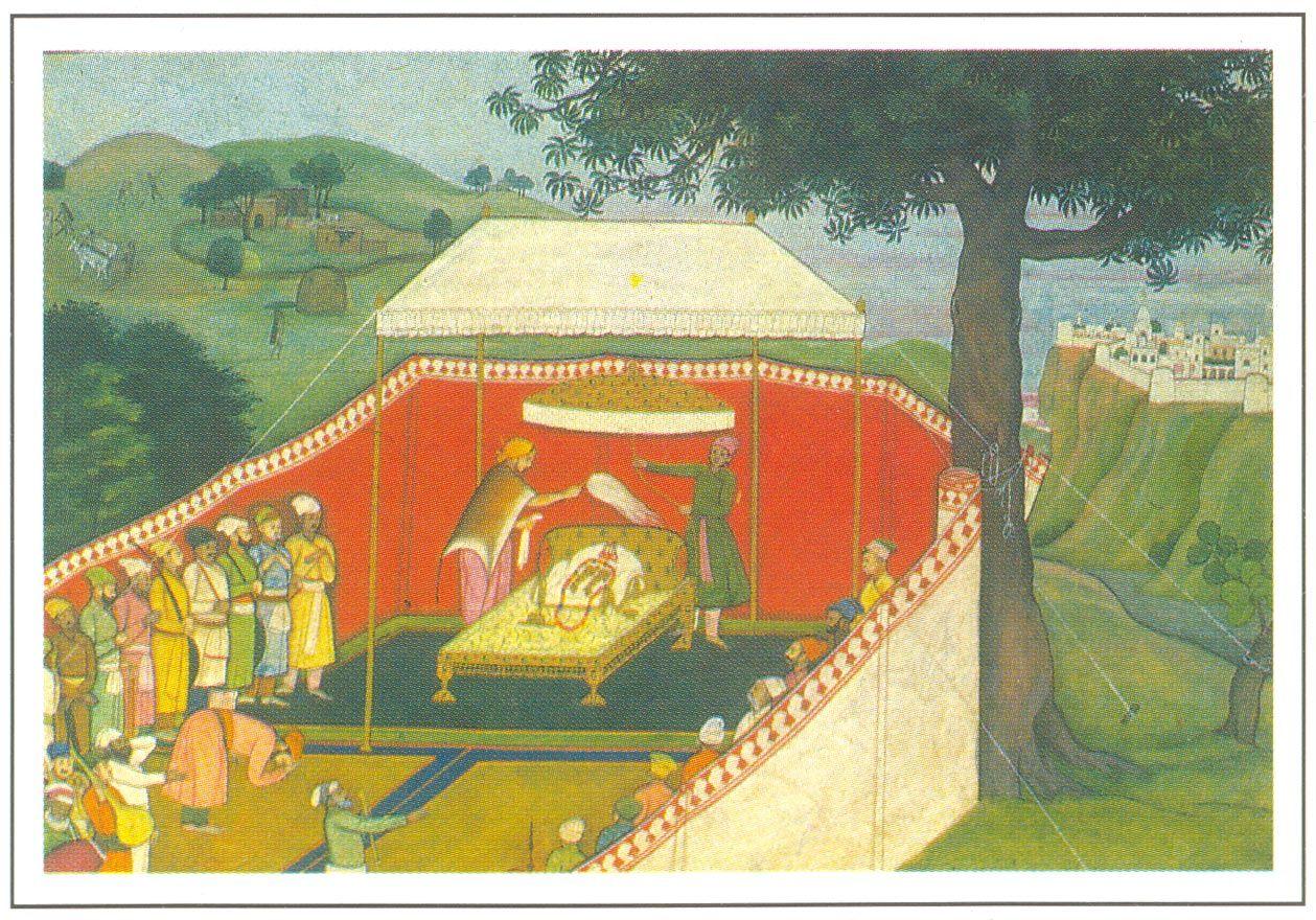 Bharat worshipping Rama Paduka, Guler, circa 1780-85 A.D., National Museum, New Delhi