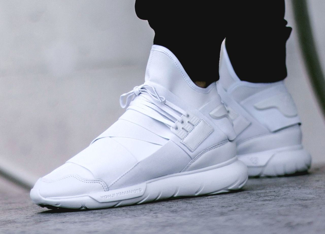 adidas Y-3 Qasa High 'Triple White' (via Kicks-daily.