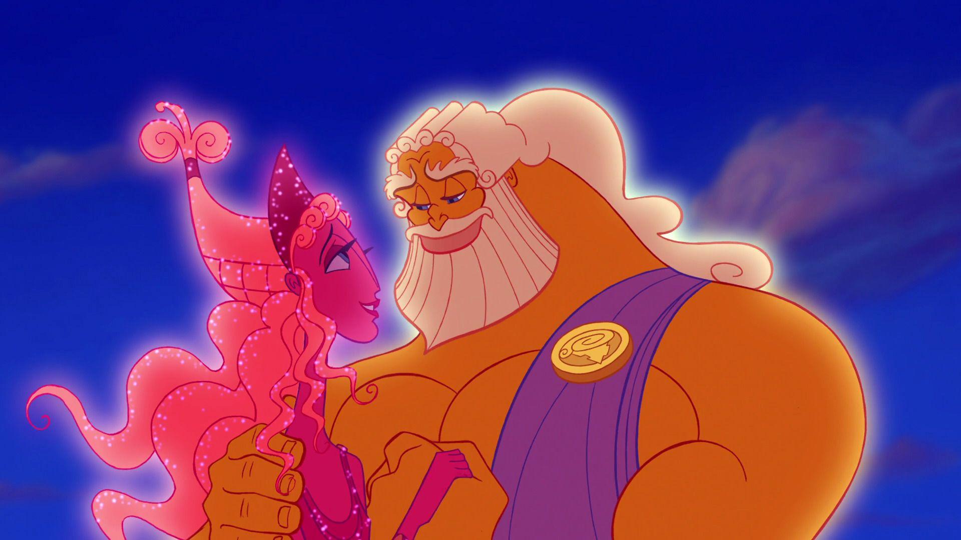 Zeus and Hera   Disney icons, Zeus and hera, Greek and roman mythology