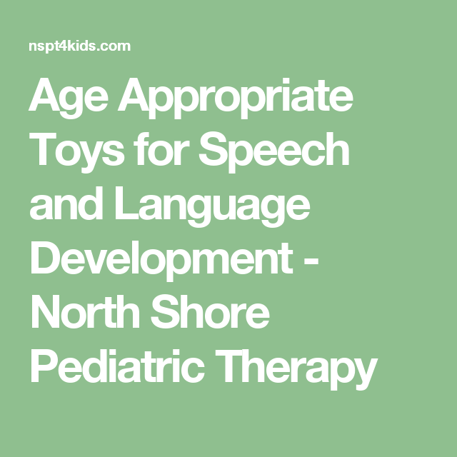 Age Appropriate Toys for Speech and Language Development