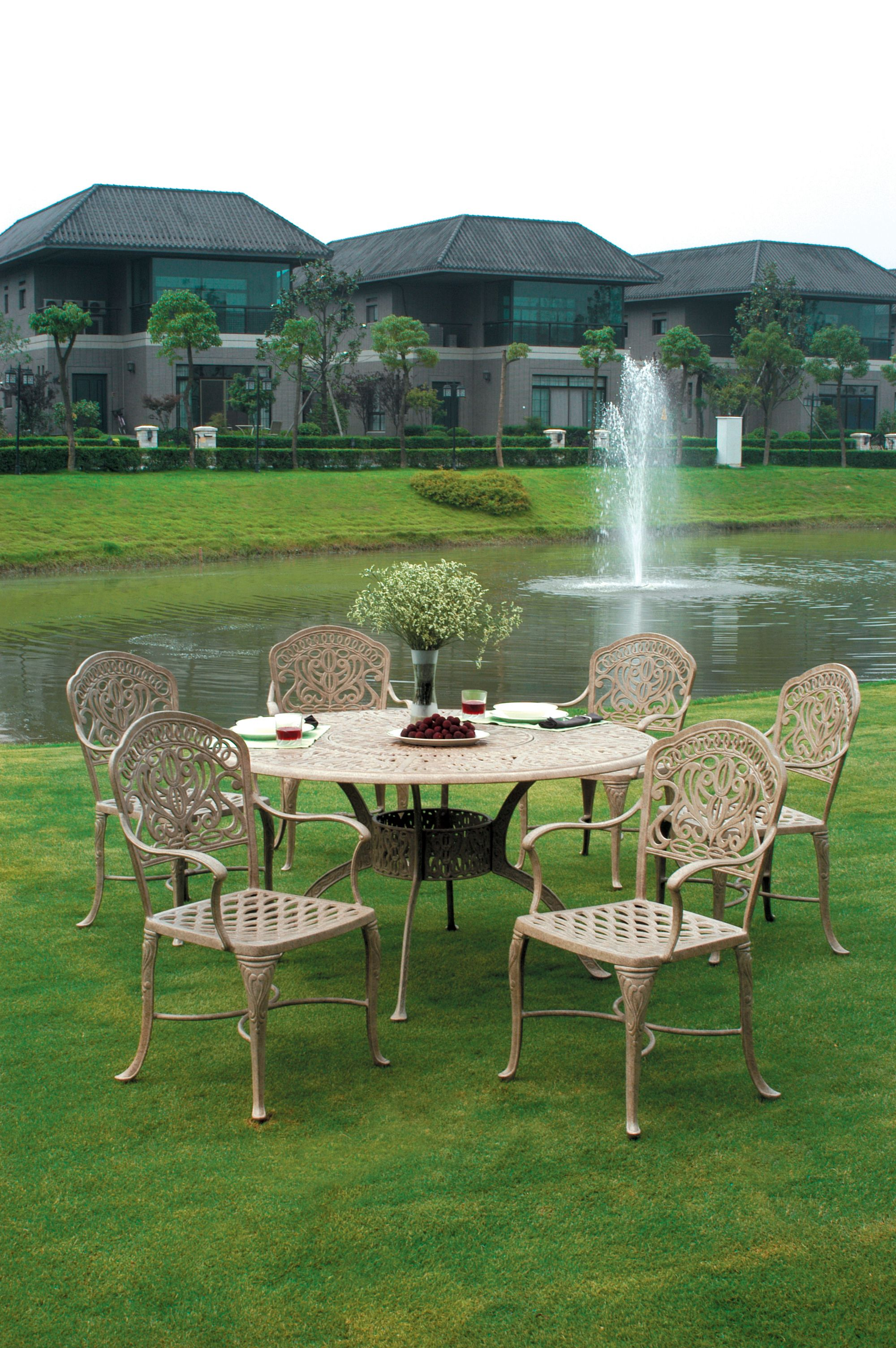 fresh tuscan brisbane aluminum piece outdoor dining tuscany home design ideas on grand patio traditions furniture table agio set sets hanover hanamint cool bronze