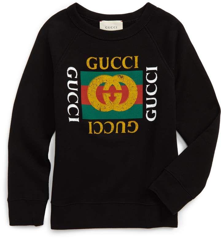 7cf31799f Gucci Logo Graphic Sweatshirt | Products | Pinterest | Sweatshirts ...