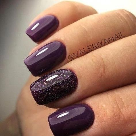 39 Trendy Fall Nails Art Designs Ideas In 2020 Plum Nails Purple Nails Purple Nail Designs