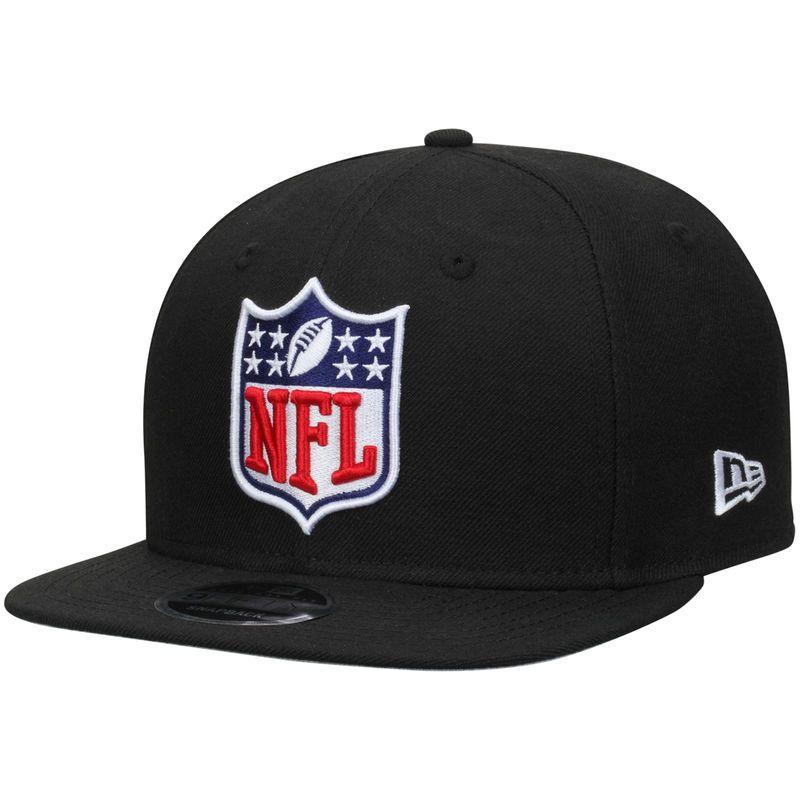 buy popular b1beb 8c580 ... italy nfl shield logo new era original fit 9fifty adjustable snapback  hat black d6f1a 035f5