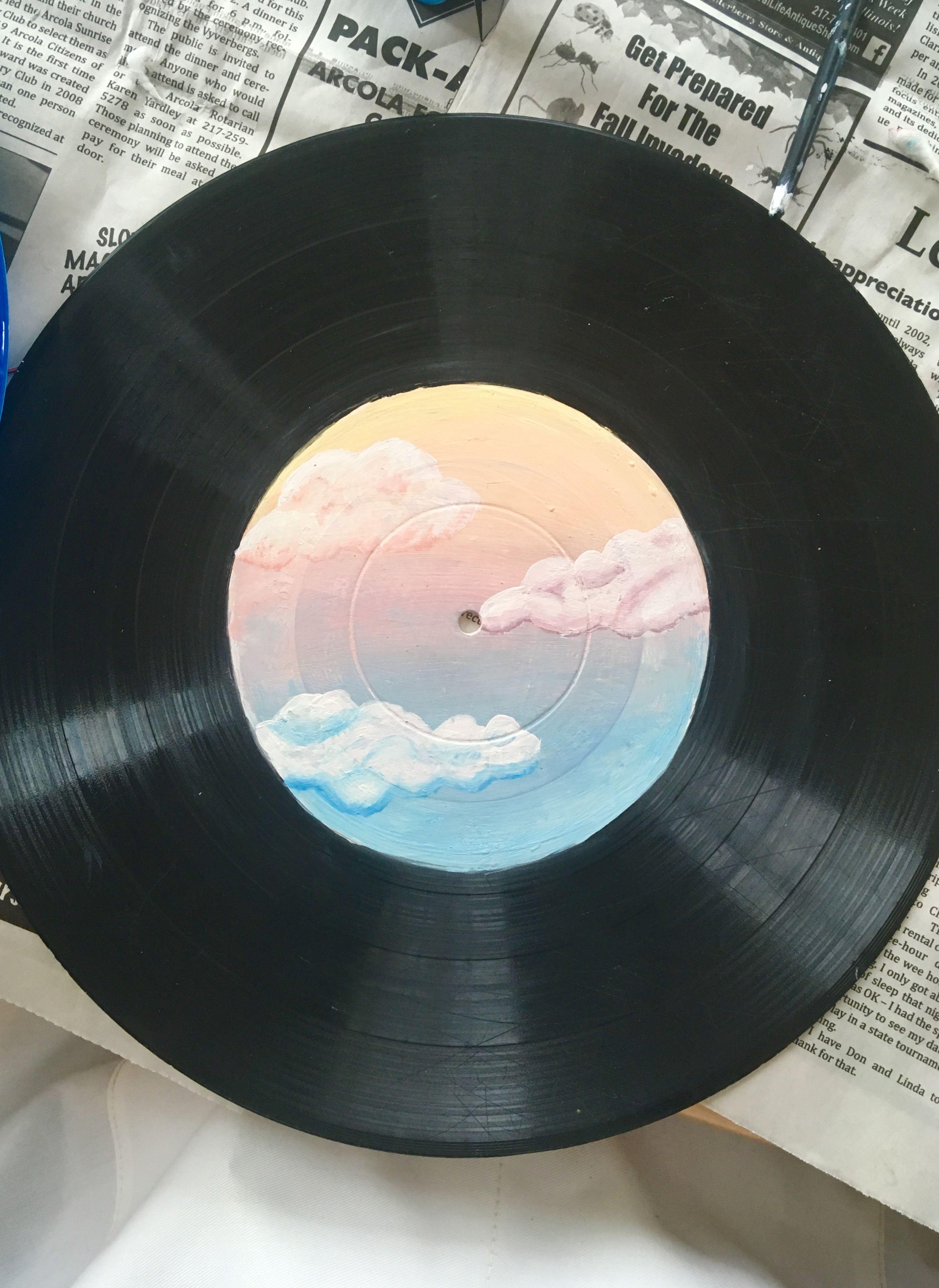 Painted Vinyl Vinyl Record Art Vinyl Art Projects Vinyl Painted