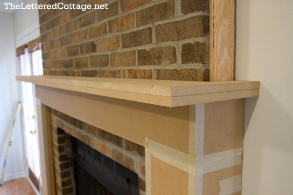 Fireplace Mantel How To Over Brick Buidling Projects