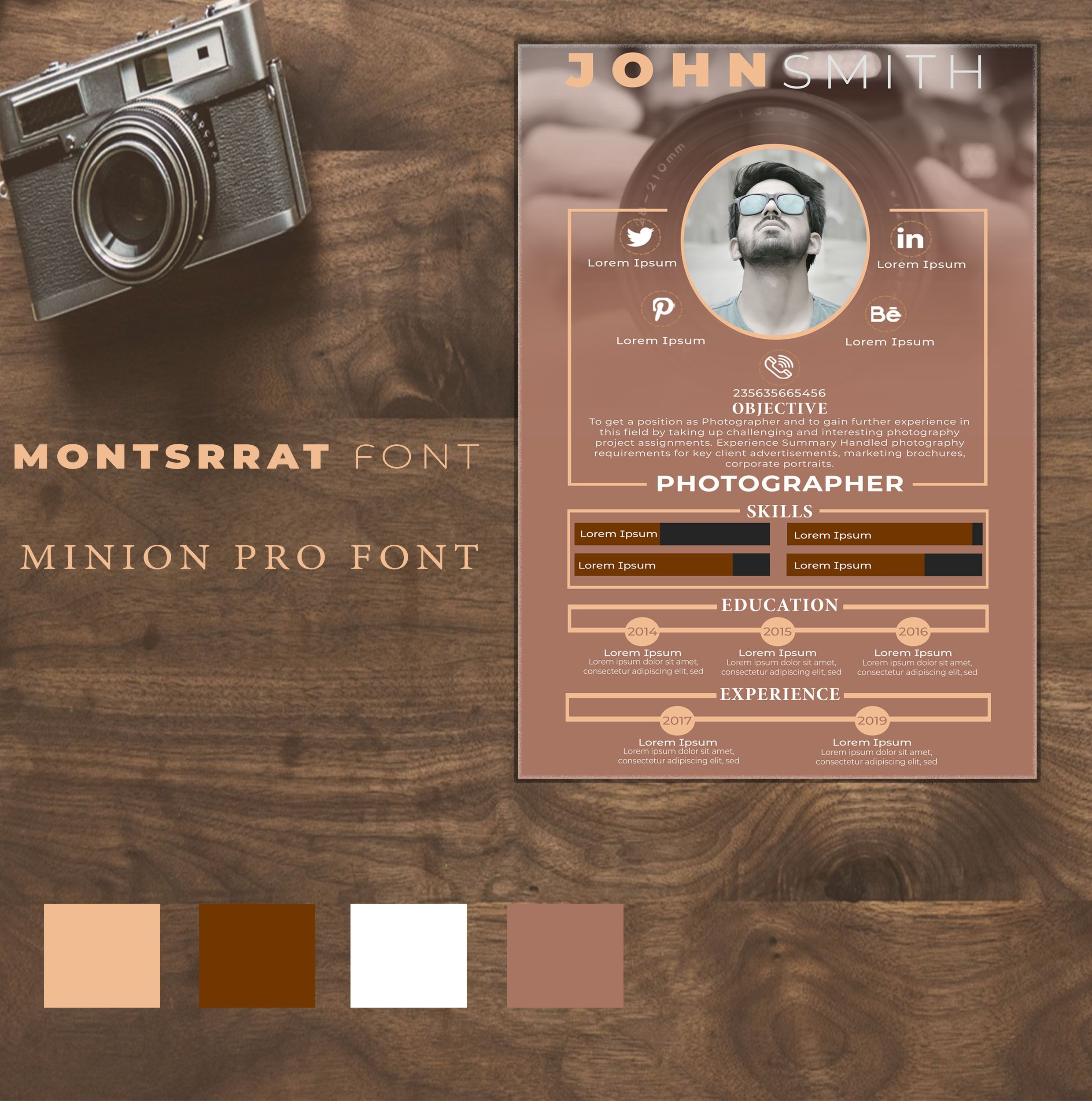 Design creative infographic resumes resume template