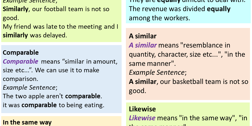 Comparison Conjunctions In English Meaning And Example Sentences Connecting Words Conjunctions English Grammar Notes