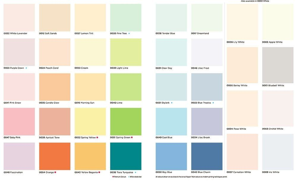 Different Shades And Chromatic Ranges Of Paint Colour Chart Asian Paints Colour Shades Paint Color Chart Asian Paints Colours