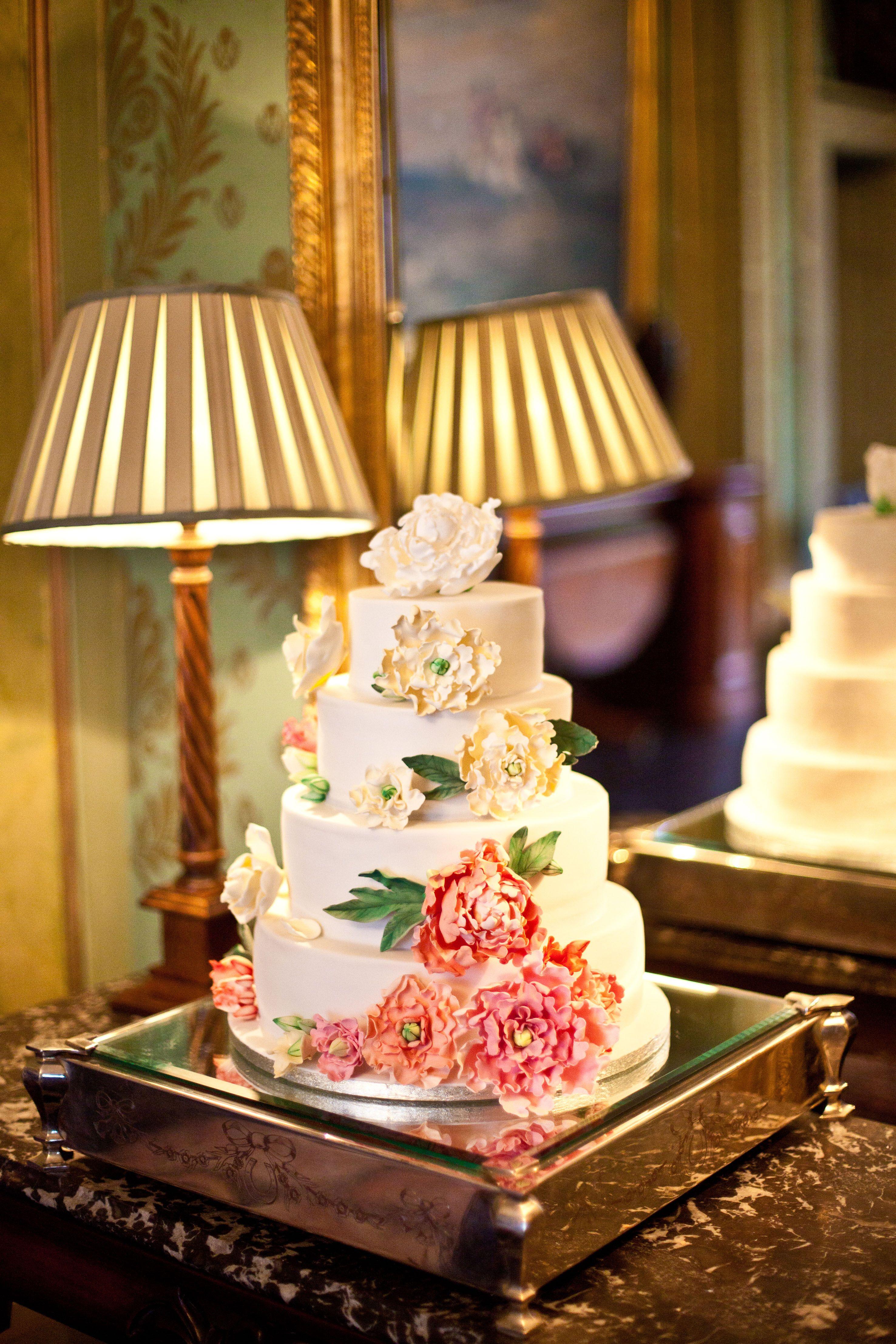 peony and magnolia wedding cake   wedding ideas   Pinterest ...