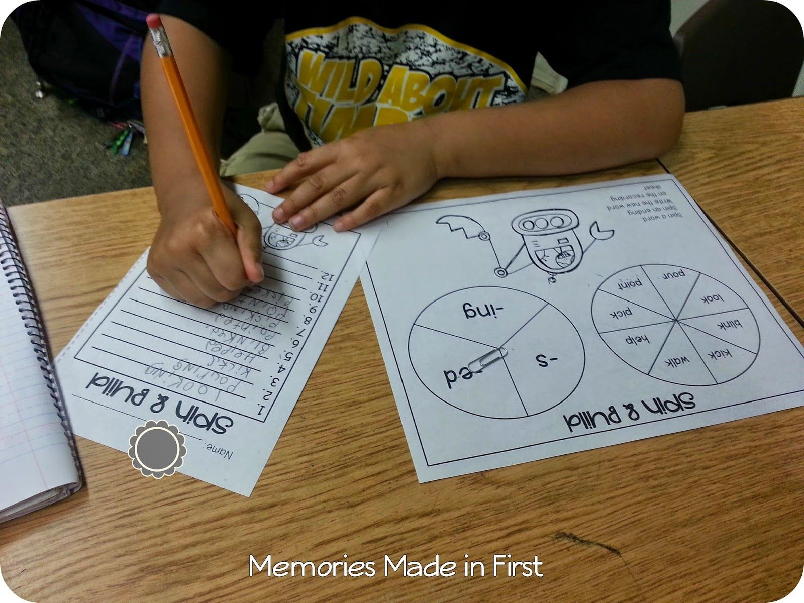 Memories Made In First Build A Word Inflectional Endings