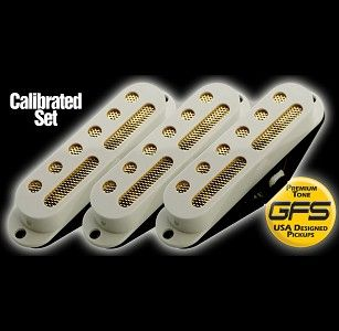 GFS Gold Foil Single Coil Strat SET OF THREEE WHITE mikit
