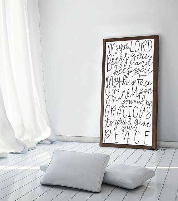 Threshold Blessing May The Lord Bless You And Keep You Sign Etsy Scriptures Wall Scripture Wall Art Word Art Sign