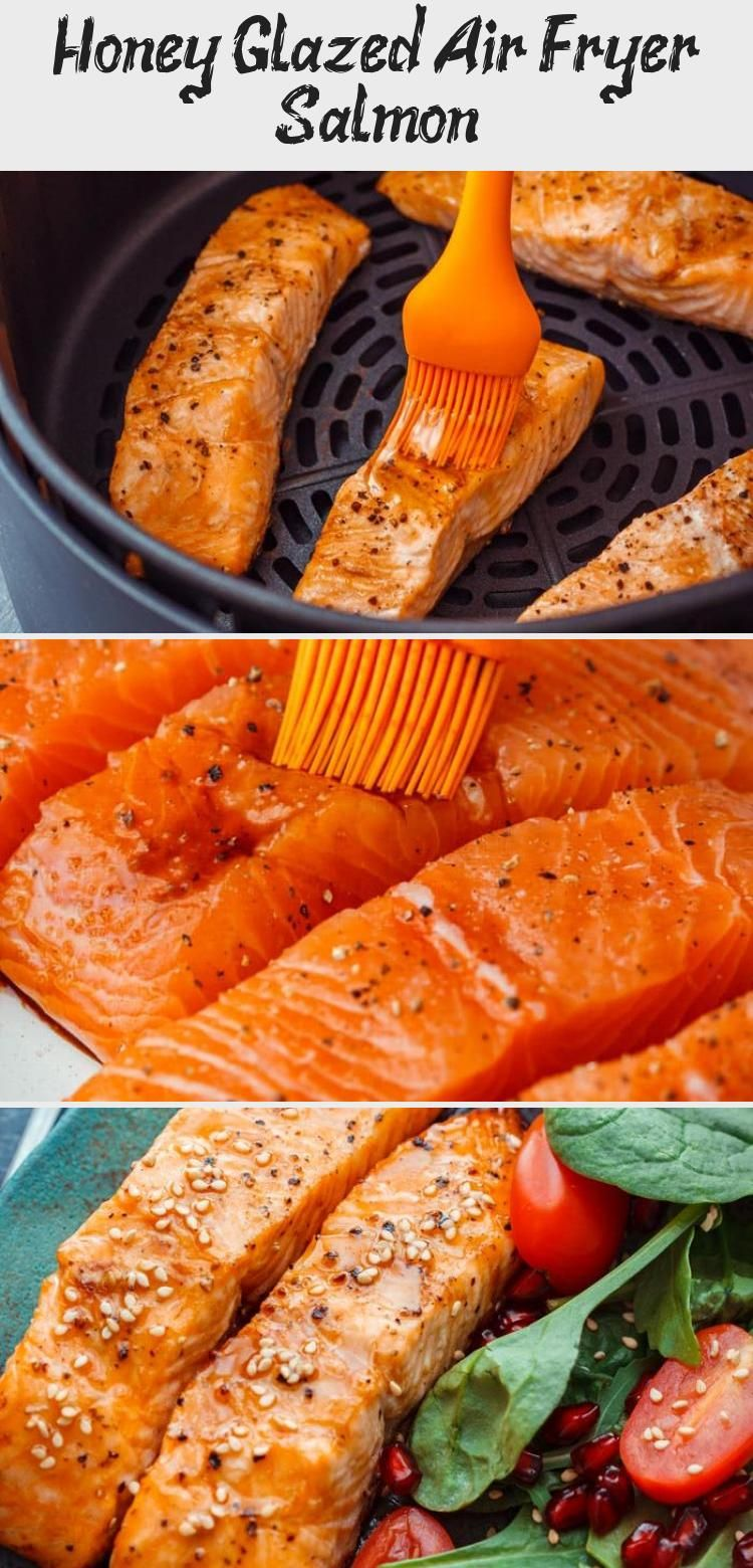Photo of Honey glazed air fryer salmon fillets are ready on your table in 10 minutes so i…