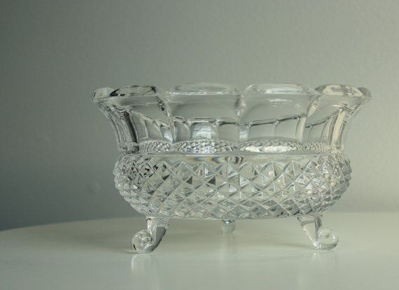 Vintage Crystal Bowl Antique Crystal Bowl Lead Crystal Bowl
