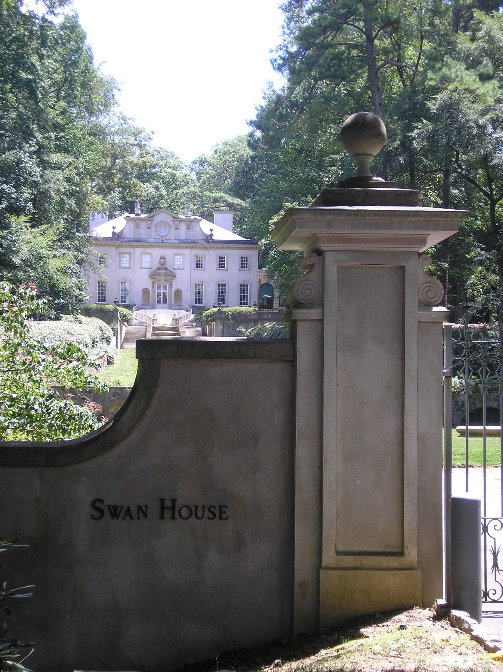 swan house from gate post atlanta photo by steve golse