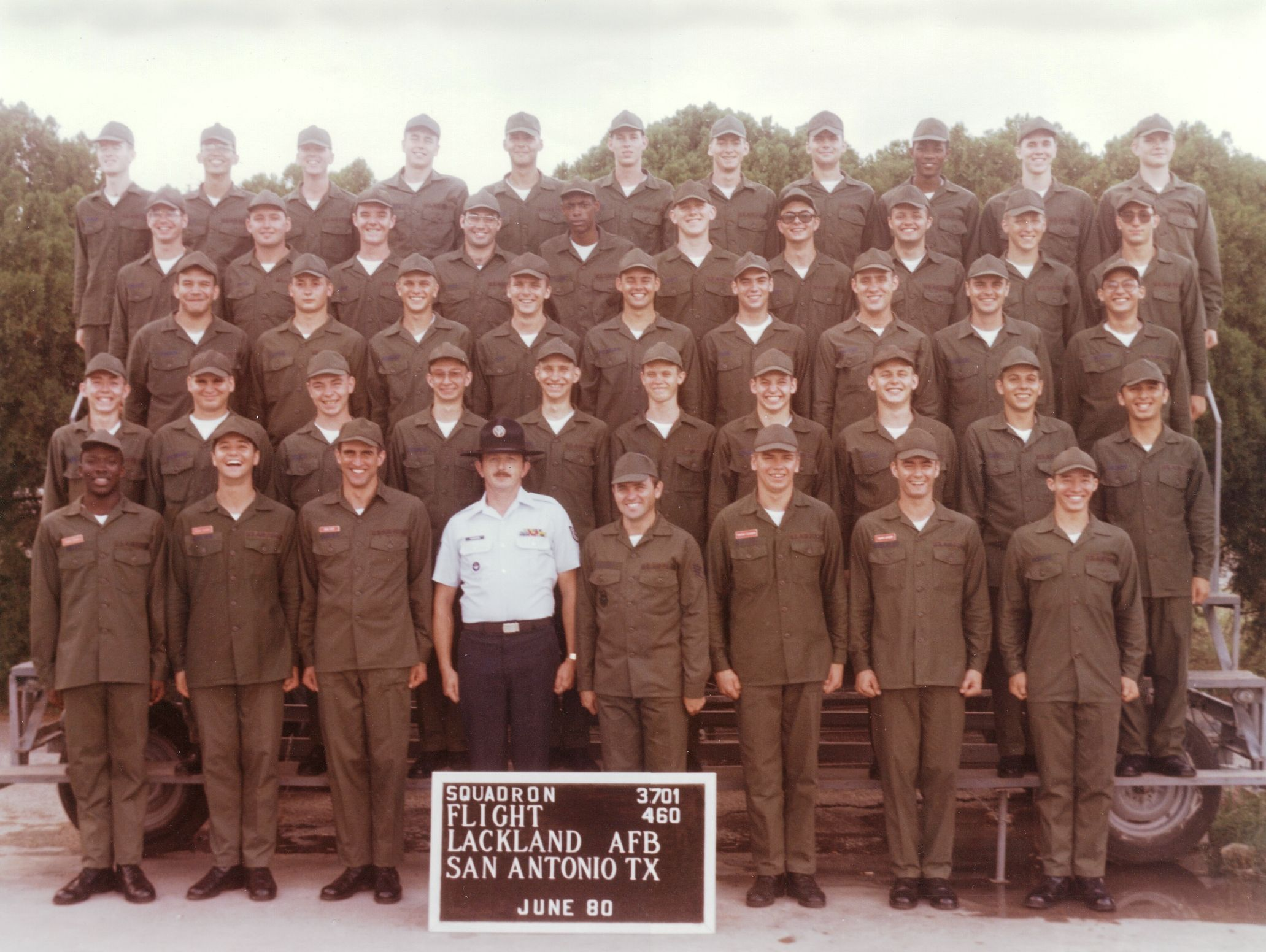 Air Force Basic Training, Lackland AFB, TX, Jun 80  I was there